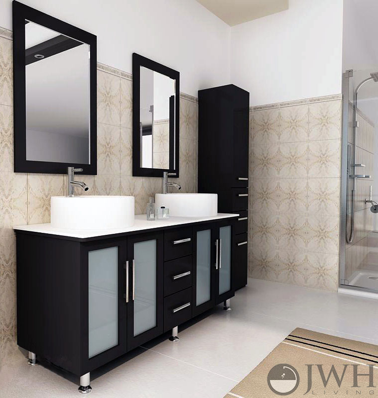 59 Double Sink Vanity Part - 40: JWH Living
