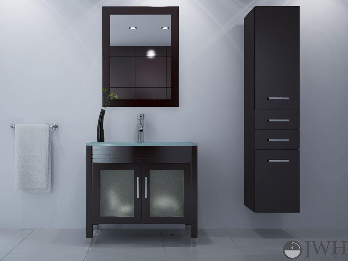 Jwh Living 35 5 Quot Ludwig Single Bath Vanity Glass Top