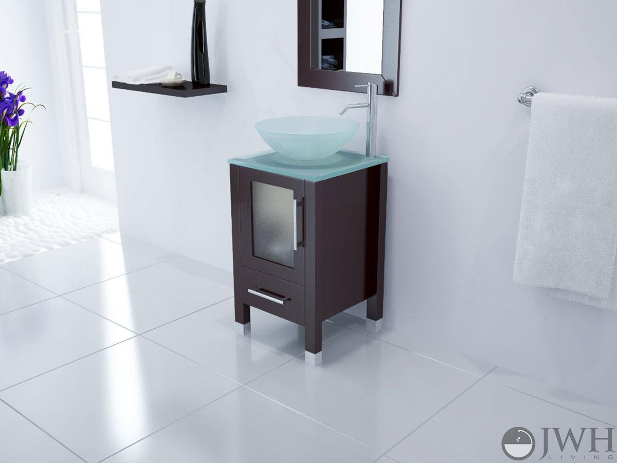 """JWH Living :: 17.75"""" Soft Focus Single Vessel Sink Vanity"""