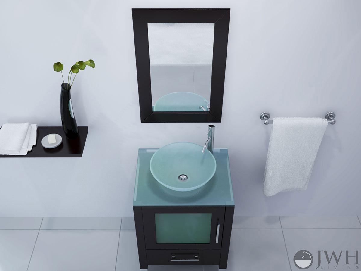 """23.75"""" Soft Focus Single Vessel Sink Vanity"""