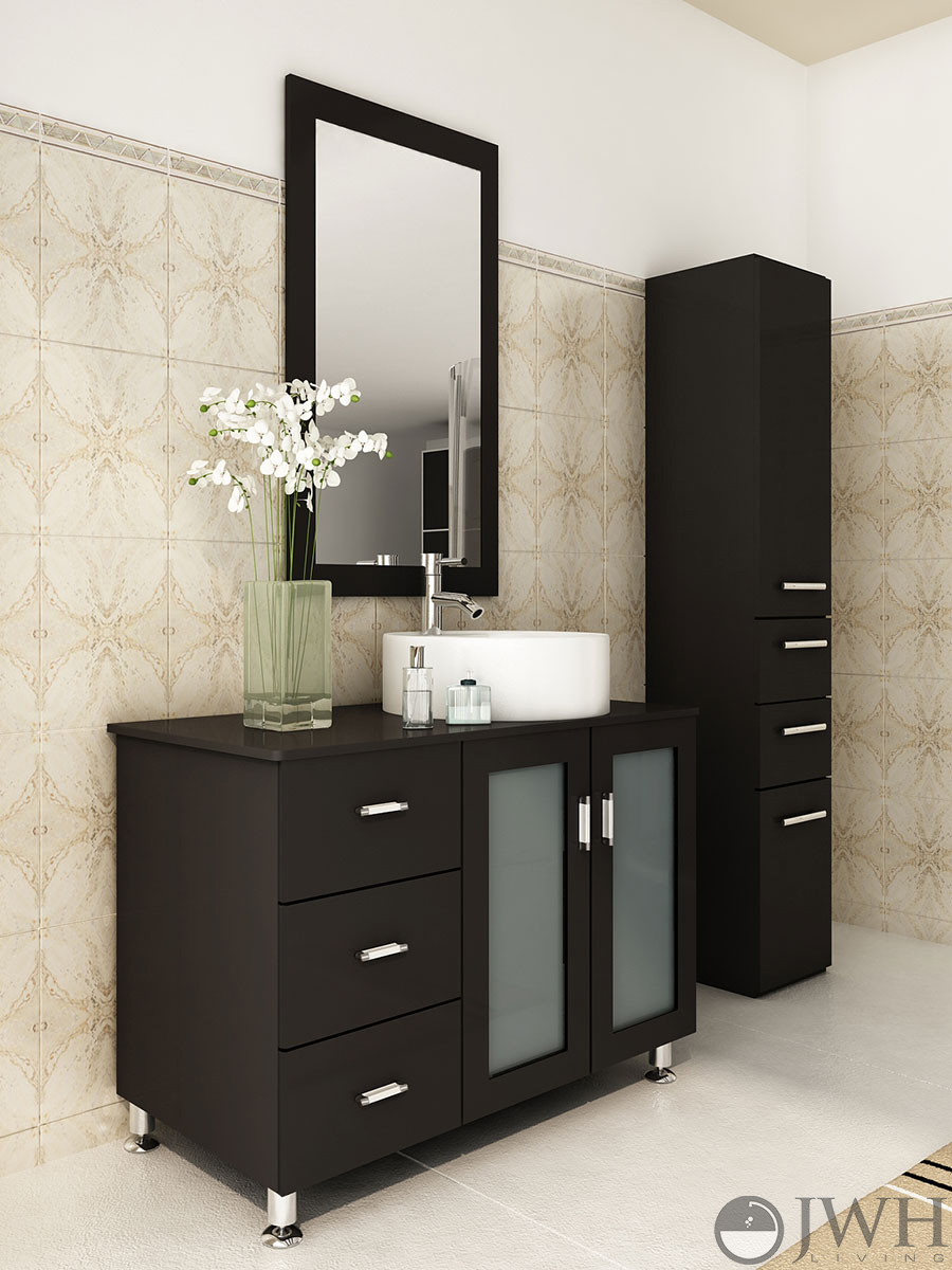 "jwh living :: 39"" lune single bath vanity"