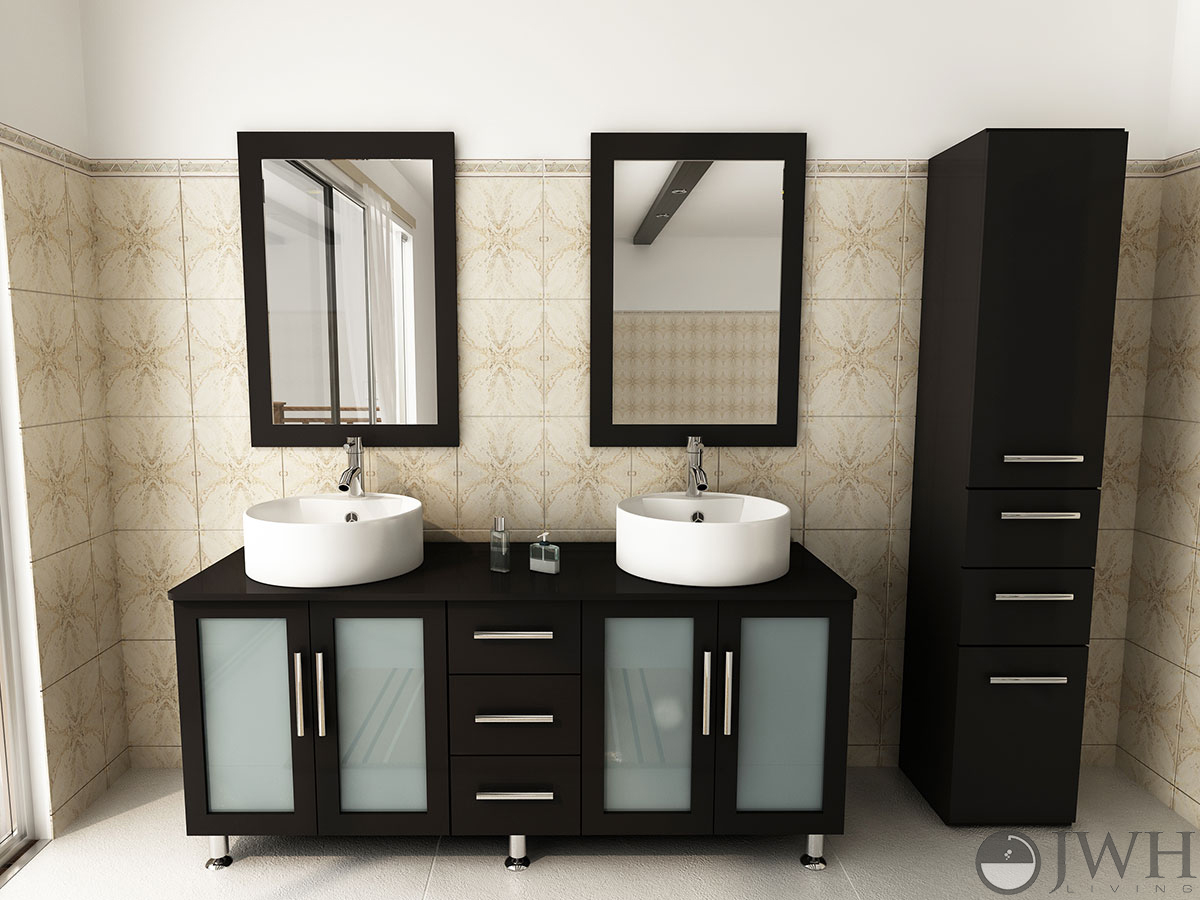 Jwh Living 59 Quot Lune Double Sink Vanity Wood Top