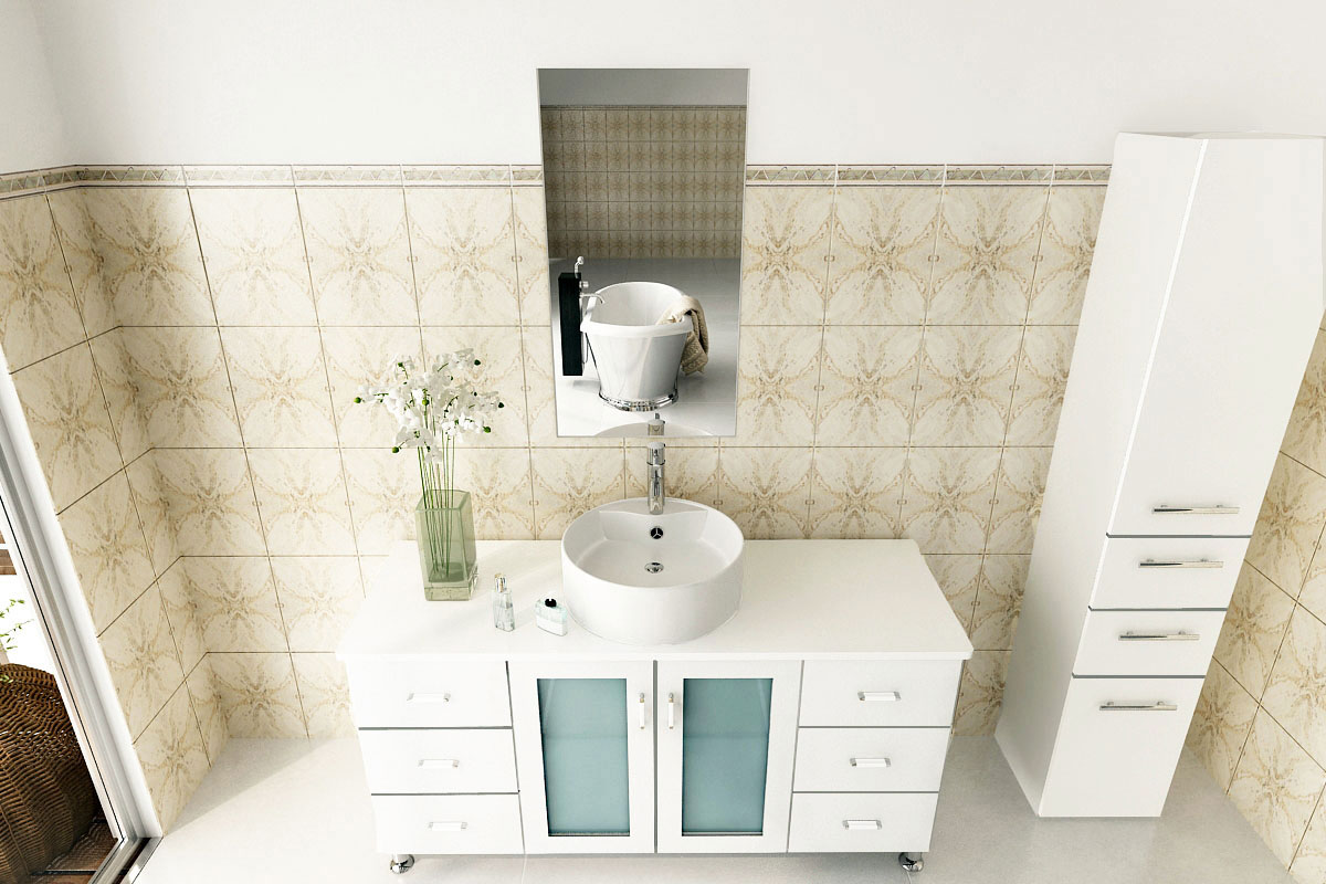 "47"" Grand Lune Single Bath Vanity - White"