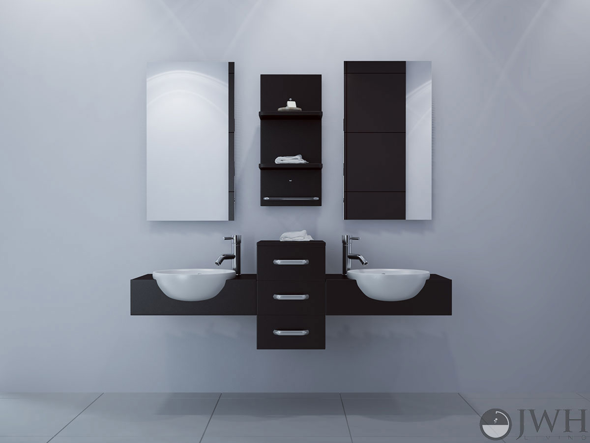 59 Inch Bathroom Vanity Part - 30: JWH Living