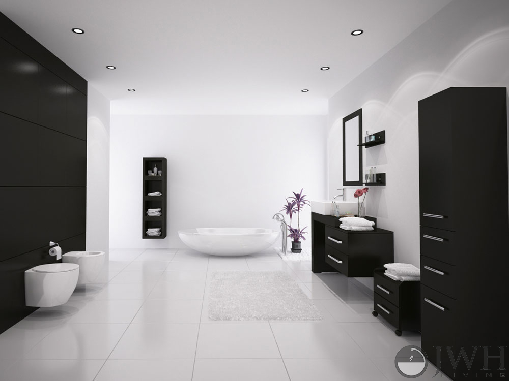 """33 Single Bathroom Vanity: JWH Living :: 33.5-57"""" Scorpio Single Vessel Sink Vanity"""