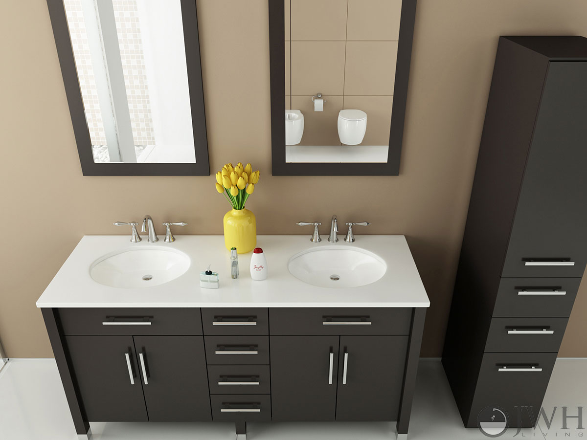 Marvelous 59 Double Sink Vanity Part - 10: JWH Living