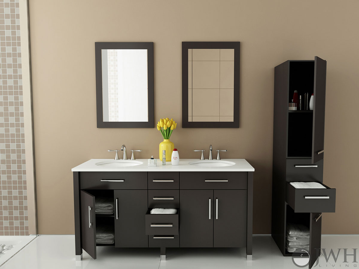 "Bathroom Vanity Costco jwh living :: 59"" rana double sink vanity"