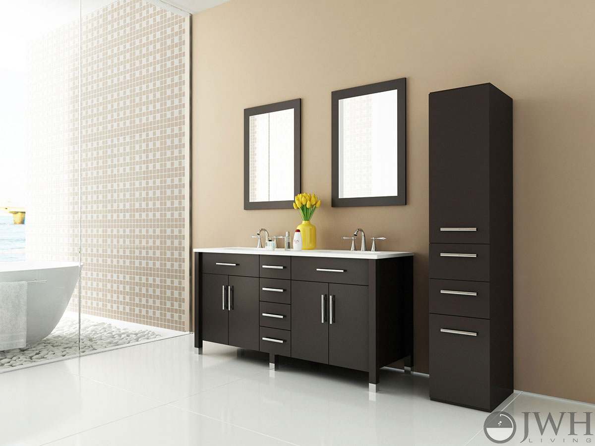 59 Double Sink Vanity Part - 22: JWH Living