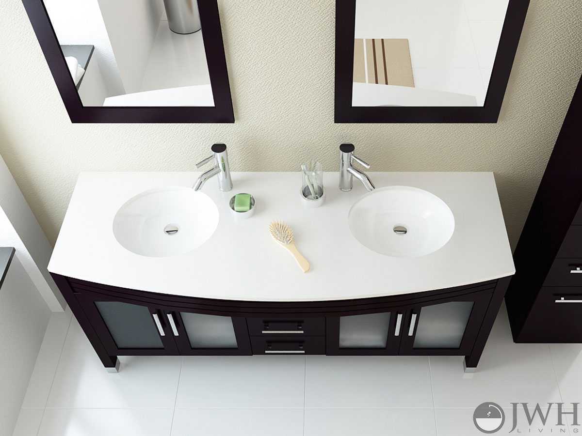 Jwh Living 63 Quot Grand Regent Double Sink Vanity Stone Top