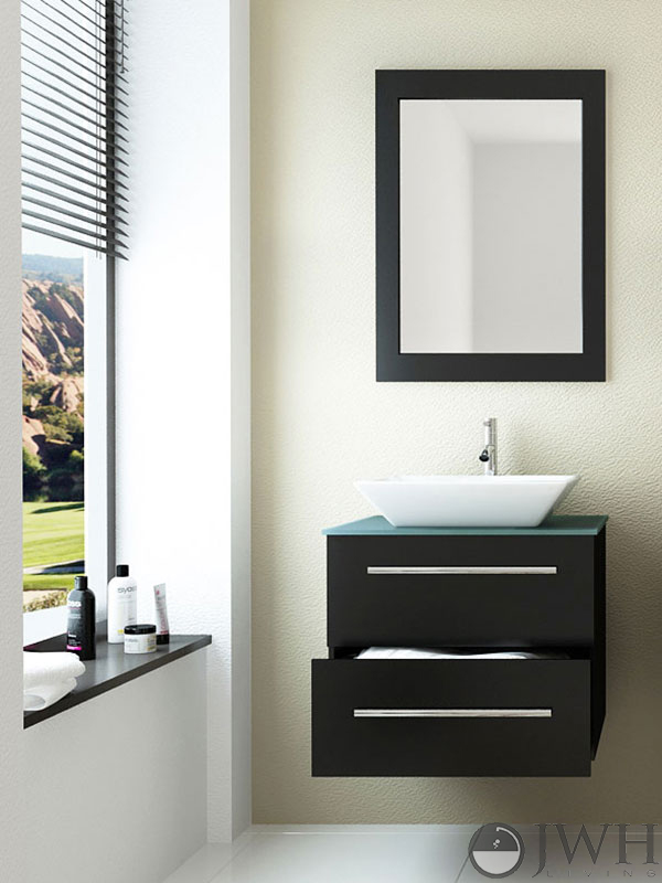 Jwh Living 24 Quot Carina Single Wall Mounted Vanity