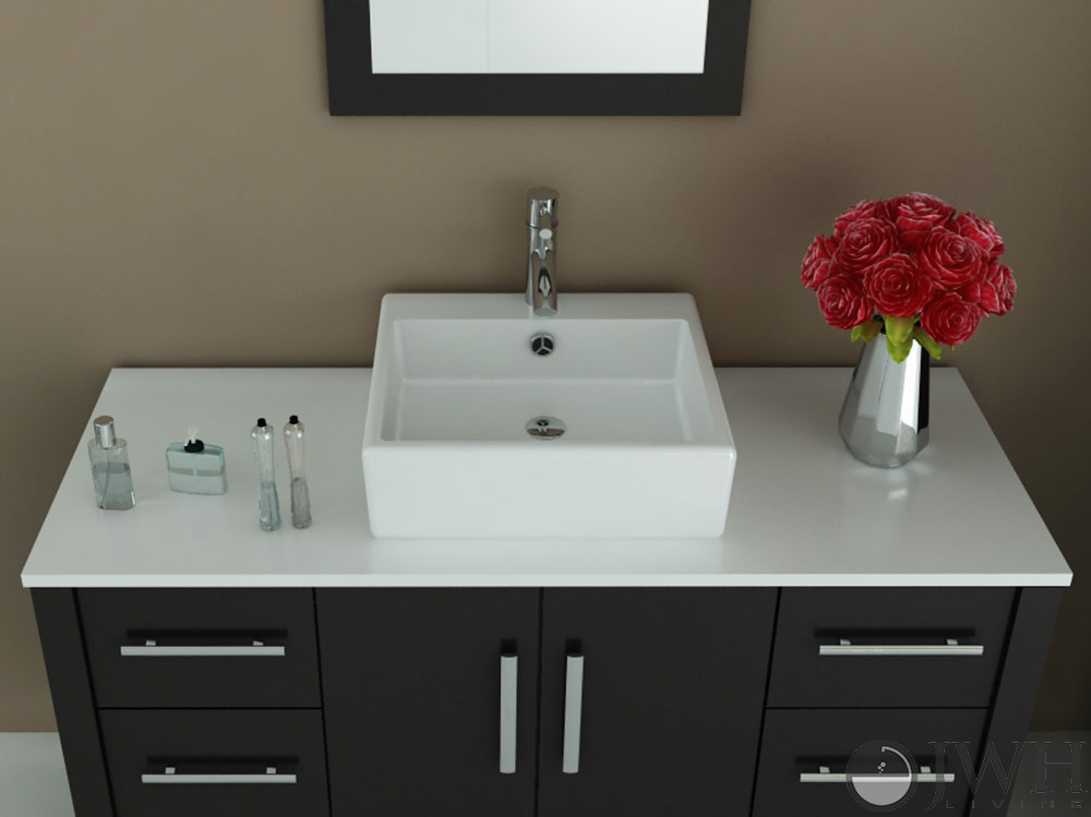Jwh Living 47 Quot Grand Crater Single Vessel Sink Vanity