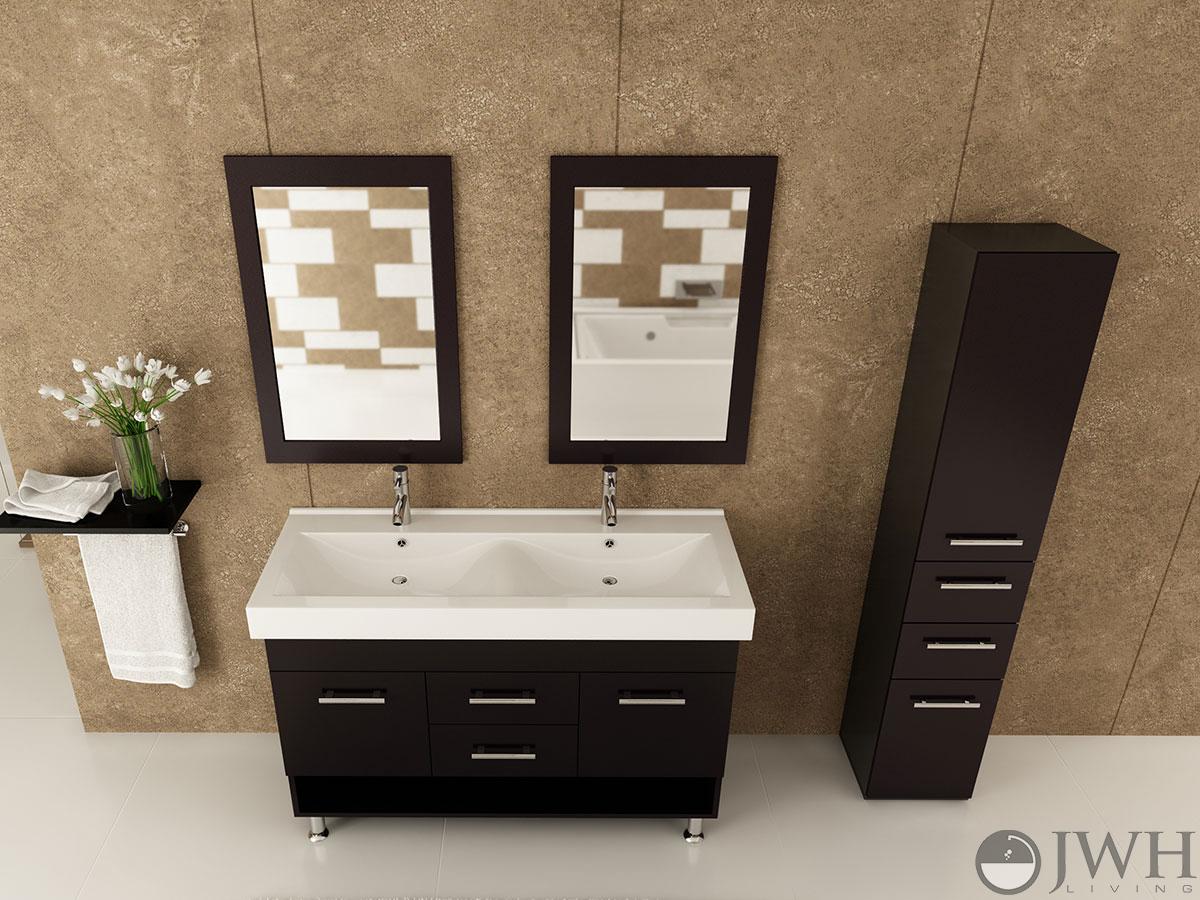 jwh living 48 rigel double sink vanity
