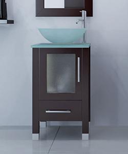 """17.75"""" Soft Focus Single Vessel Sink Vanity"""