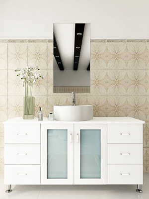 Jwh Living Furniture By Category All Vanities 47 25 Quot Grand Lune Single Bath Vanity White