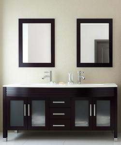 """63"""" Grand Regent Double Sink Vanity - Stone Top"""