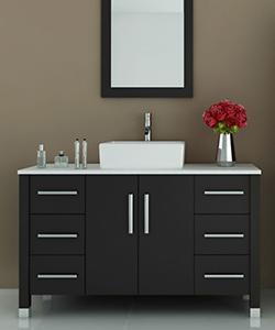 jwh living 47 quot  grand crater single vessel sink vanity Bathroom Vanities with Tops Bathroom Vanities with Tops