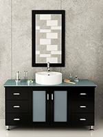"47.25"" Grand Lune Single Bath Vanity - Espresso/Glass Top"