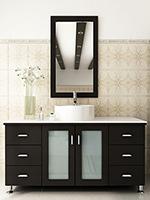 """47.25"""" Grand Lune Single Bath Vanity - Espresso/Stone Top"""